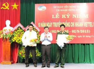 Chi nhánh Viettel Bến Tre kỷ niệm 10 năm hoạt động
