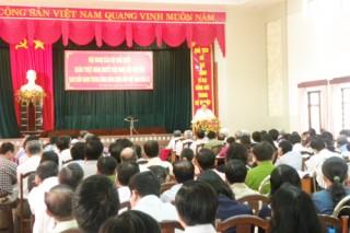 Hội nghị cán bộ chủ chốt học tập, quán triệt Nghị quyết Trung ương 8 (khóa XI)