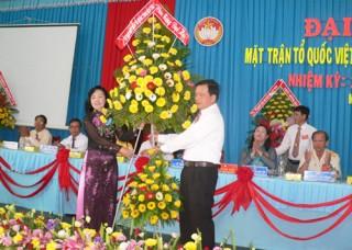 Đại hội điểm MTTQ Việt Nam huyện Mỏ Cày Nam thành công tốt đẹp