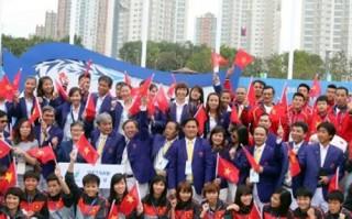 Đoàn thể thao Việt Nam làm lễ thượng cờ tại Asiad 17