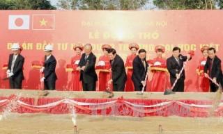 Chủ tịch nước Trương Tấn Sang dự lễ động thổ Dự án đầu tư xây dựng Đại học Việt Nhật
