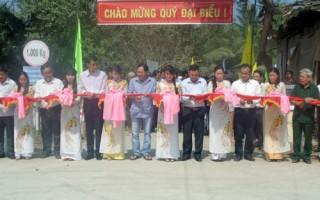 Khánh thành đường liên xã Tân Lợi Thạnh - Phước Long