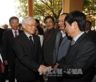 Tổng Bí thư Nguyễn Phú Trọng thăm và làm việc tại huyện Lệ Thủy, tỉnh Quảng Bình