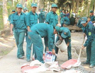 Đảm bảo tốt công tác huấn luyện dân quân tự vệ