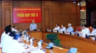 Ban Chỉ đạo Trung ương về phòng, chống tham nhũng họp phiên thứ 8