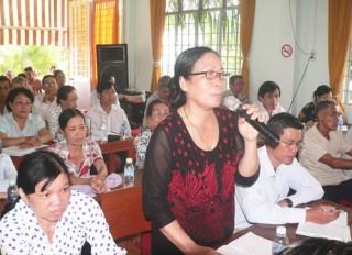 Đại biểu HĐND tỉnh tiếp xúc cử tri xã Bình Phú
