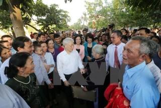 Tổng Bí thư Nguyễn Phú Trọng dự Ngày hội Đại đoàn kết toàn dân tộc
