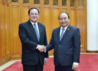 Thủ tướng Nguyễn Xuân Phúc tiếp Phó Thủ tướng Lào Sonsay Siphandone