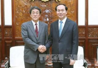 Chủ tịch nước Trần Đại Quang tiếp Đại sứ Nhật Bản đến chào xã giao