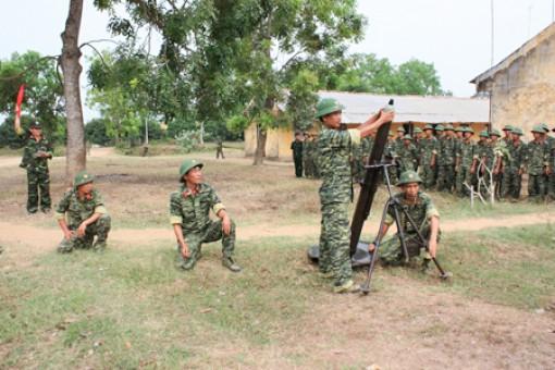Thực hiện tốt việc huấn luyện lực lượng dự bị động viên