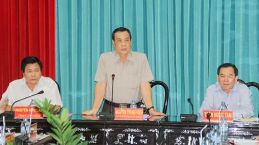 Đoàn công tác Ban Chỉ đạo Tây Nam Bộ làm việc tại tỉnh
