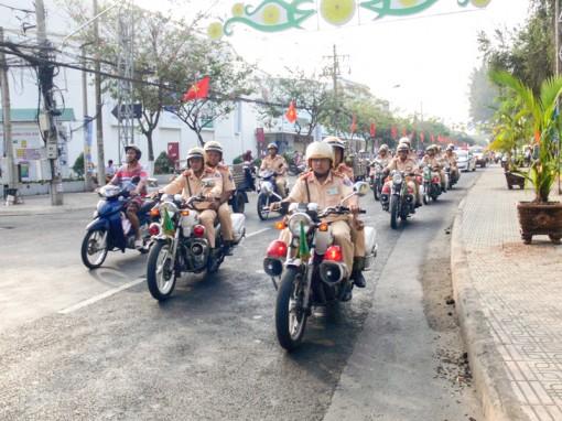 Ra quân đảm bảo trật tự an toàn giao thông năm 2018