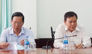 Thường trực Tỉnh ủy làm việc với Huyện ủy Mỏ Cày Nam