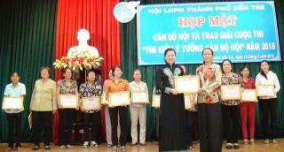 Hội Liên hiệp Phụ nữ TP. Bến Tre: 17 ý tưởng đoạt giải cuộc thi Tìm kiếm ý tưởng cán bộ hội