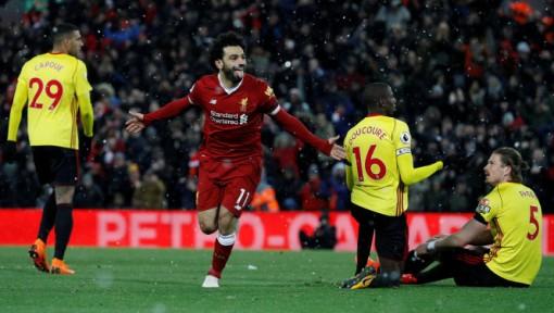 Salah lập cú poker, Liverpool trở lại vị trí thứ ba