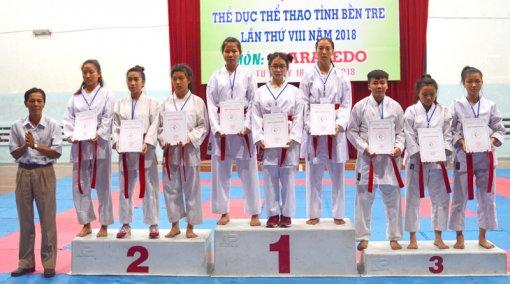 Hơn 140 vận động viên tham gia Giải Karatedo Đại hội Thể dục thể thao