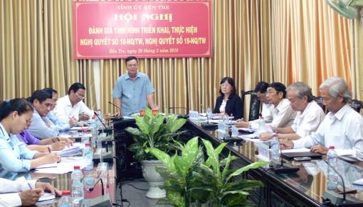 Hội nghị trực tuyến đánh giá tình hình triển khai, thực hiện Nghị quyết 18, 19 của Hội nghị Trung ương 6 (khóa XII)