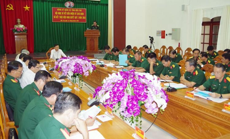Đảng ủy Quân sự tỉnh sơ kết giữa nhiệm kỳ 2015 - 2020