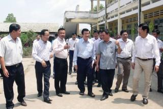 Nguyên Chủ tịch nước Trương Tấn Sang thăm và làm việc tại Bến Tre