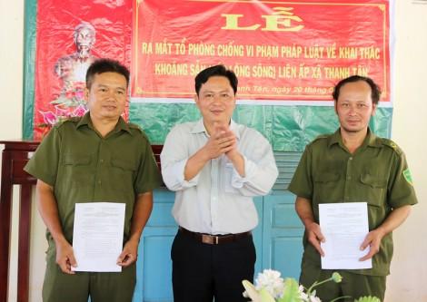 Mỏ Cày Bắc ra mắt Tổ phòng, chống vi phạm pháp luật về khai thác khoáng sản
