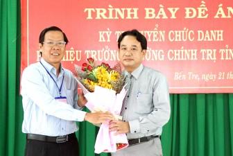 Thi trình bày đề án kỳ thi tuyển chức danh Phó hiệu trưởng Trường Chính trị tỉnh