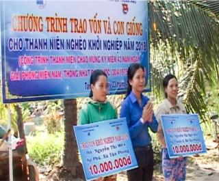 Thạnh Phú hỗ trợ cho 3 thanh niên nghèo khởi nghiệp