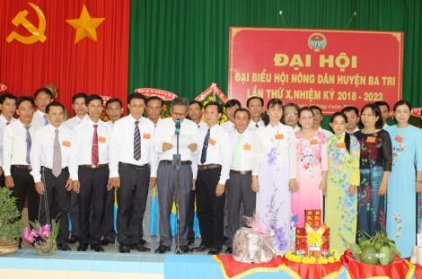 Hội Nông dân huyện Ba Tri hoàn thành đại hội nhiệm kỳ 2018 - 2023
