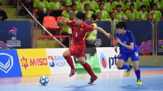 Futsal nữ Việt Nam thua đáng tiếc Thái Lan ở trận tranh hạng ba