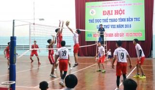 Đại hội Thể dục thể thao tỉnh Bến Tre: Thi đấu môn bóng chuyền nam