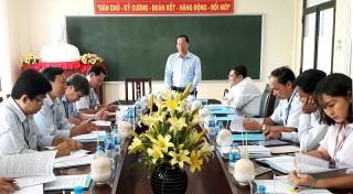Phó bí thư Thường trực Tỉnh ủy Phan Văn Mãi làm việc với Sở Kế hoạch và Đầu tư