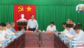 Phó bí thư Thường trực Tỉnh ủy Phan Văn Mãi làm việc với Sở Tài nguyên và Môi trường