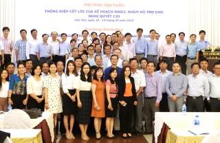 Tập huấn thông điệp cốt lõi kế hoạch đồng bằng sông Cửu Long hỗ trợ Nghị quyết số 120/NQ-CP