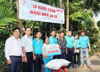 Hỗ trợ xây nhà tình thương tại Châu Thành, Giồng Trôm
