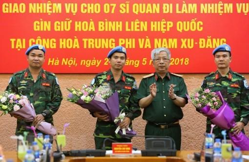 7 sĩ quan Việt Nam đi làm nhiệm vụ gìn giữ hòa bình Liên hợp quốc