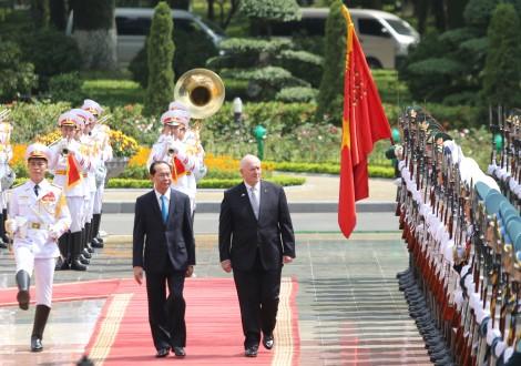 Chủ tịch nước chủ trì lễ đón Toàn quyền Australia Peter Cosgrove