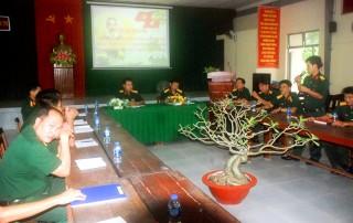 Trường Quân sự tỉnh tọa đàm học tập và làm theo Bác