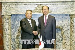 Chủ tịch nước Trần Đại Quang hội kiến Chủ tịch Hạ viện Nhật Bản