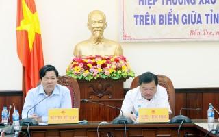 Hiệp thương xác định ranh giới hành chính trên biển giữa tỉnh Bến Tre và Trà Vinh