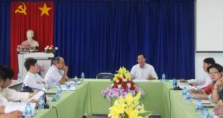 Phó bí thư Thường trực Tỉnh ủy Phan Văn Mãi làm việc với Đảng ủy Sở Nông nghiệp và Phát triển nông thôn