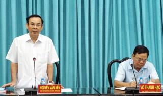 Đoàn kiểm tra của Ban Bí thư Trung ương Đảng làm việc với Ban Thường vụ Tỉnh ủy