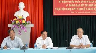 Báo chí có đóng góp to lớn vào sự phát triển của Bến Tre