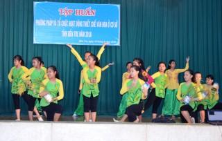 Tập huấn phương pháp và tổ chức hoạt động thiết chế văn hóa ở cơ sở