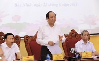 Tổ công tác của Thủ tướng làm việc với tỉnh Bắc Ninh