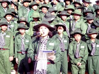 """76 chiến sĩ nhỏ xuất quân khóa huấn luyện """"Học kỳ trong quân đội"""""""
