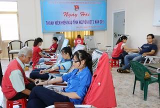 196 cán bộ, nhân viên ngành ngân hàng hiến máu tình nguyện