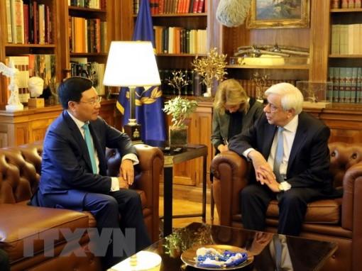 Phó thủ tướng Phạm Bình Minh thăm chính thức Cộng hòa Hy Lạp
