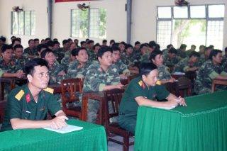 Khai giảng huấn luyện dự bị động viên binh chủng năm 2018