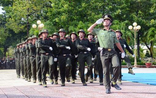 Biểu diễn kết quả huấn luyện chiến sĩ nghĩa vụ công an nhân dân năm 2018