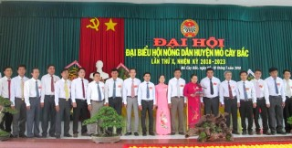Đại hội Nông dân huyện Mỏ Cày Bắc nhiệm kỳ 2018 - 2023