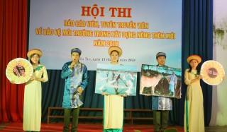 Hội thi tuyên truyền viên, báo cáo viên về bảo vệ môi trường trong xây dựng nông thôn mới